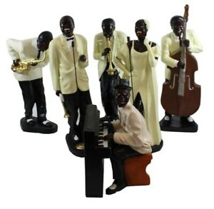Deko Figuren Jazz Musiker H 37- 56 cm Dekofiguren Band Musiker 6 Stück sortiert