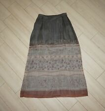 Womens EMANUEL UNGARO Silk Maxi Skirt Full Length Floral Tribal Lined Size 10 44