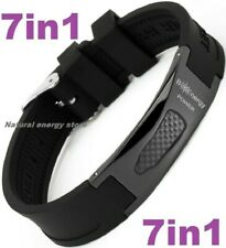 TITANIUM Magnetic Energy Armband Power Bracelet Health Bio 7in1 Bio Black 2568