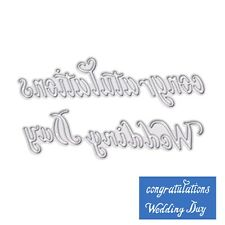 Wedding Day Metal Cutting Dies Stencil Scrapbook Paper Card Craft Embossing DIY