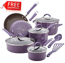 New ListingRachael Ray Cucina Nonstick Cookware Pots and Pans Set, 12 Piece, Lavender