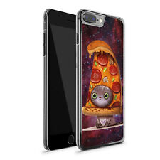 Pizza cat iPhone 7 Plus 8 Plus case phone cover hard plactic gift space meme art