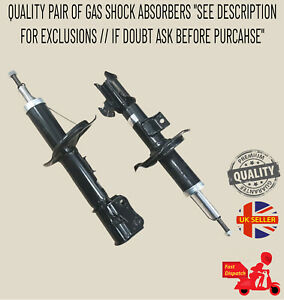 X2 FRONT GAS SHOCK ABSORBERS FOR SUZUKI SWIFT III SPLASH VAUXHALL OPEL AGILA 07>