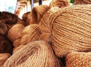 Coconut Rope Husk Fiber Coir Rope Strong Natural 100M Handmade Rope Eco-Friendly
