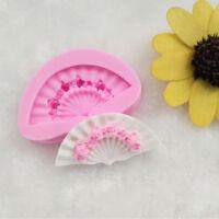 3D Fan Silicone Fondant Mold Cake Decorating Sugarcraft Baking Mould Tools DIY