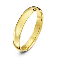 Ladies 18ct Yellow Gold Wedding Ring 2,3,4,5,6mm COURT comfort fit wedding band