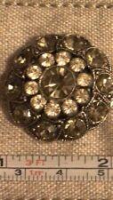 New listing Unique Vintage / Antique Buttons/ Shoe Buckles W Rhinestones, Heavy