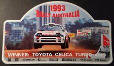 Werbe-Aufkleber Toyota Celica Turbo 4WD Rallye Australia 1993 Castrol WRC