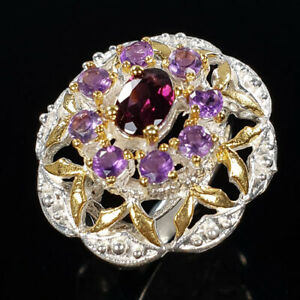 Rhodolite Ring Silver 925 Sterling FineArt Jewelry Size 6.25 /R131976