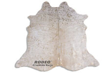 Gorgeous Gold Acid Wash Rodeo Cowhide Rug Brazilian Made Approx 7' x 8' ft