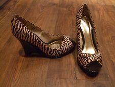 Z Womens size UK 5 wedge shoes open toe Summer Evening Slip On Work LADIES SMART