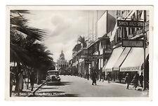 The Quai Sultan Hussein - Port Said Real Photo Postcard c1930s