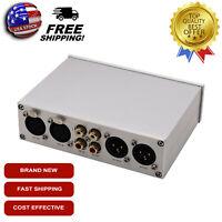 Fully Balanced Pre Amplifier XLR/RCA ALPS Potentiometer Audio Volume Control USA