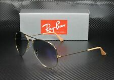RAY BAN RB3025 001 3F Aviator Gold Crystal Gradient Blue 58 mm Men's Sunglasses