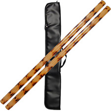 "x20 Escrima Sticks  28/"" Multi Node Rattan Kali Arnis Spiral Burn Skin On"