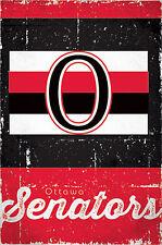 OTTAWA SENATORS Retro 1917-34 Vintage Style Official Team Logo Wall Poster