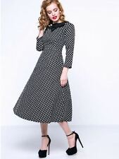 NEW Vintage 50's 60's Rockabilly Style  Polka Dot Fashion Dress Size XL 14 - 16
