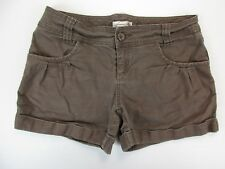 *AMERICAN RAG* SIZE 7 WOMEN'S BROWN STRETCHY 97% COTTON CASUAL SHORTS