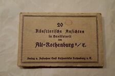 AK, 20 Stück vom Jahr ca.1900, Rothenburg Tauber, handkoloriert,