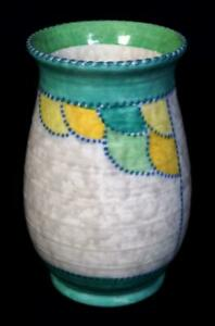 Vintage Art Deco Crown Ducal Pottery Vase c1930 Charlotte Rhead Patch Pattern