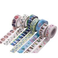DIY Floral Washi Sticker Decor Roll Paper Masking Adhesive Tape Craft + Gift Box