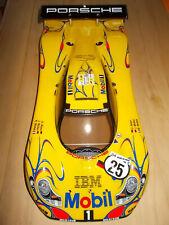 TAMIYA 50826 PORSCHE 911 GT1 KAROSSERIESATZ GEBAUT IN GELB, 1:10, 1/10, NEU, NEW