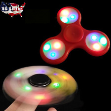 100X LED Hand Spinner Tri Fidget Finger Spinner Spin Stress Focus Desk Toy