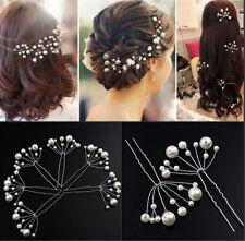 Fashion New Wedding Bridal Bridesmaid Pearls Hair Pins Clips Comb Headband 2pcs