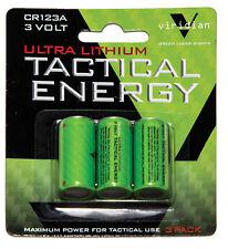 Viridian CR1233 CR123A 3V Lithium Batteries 3 Pack