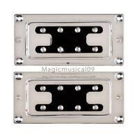 Chrome Humbucker Bridge Neck Set Pickups for Rickenbacker Bass Guitar Parts C4