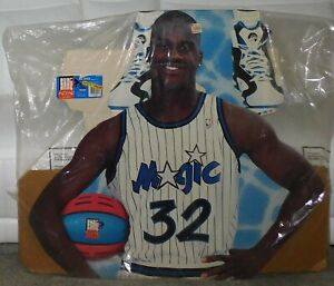 New Shaquille O'Neal Lifesize Cardboard Cutout Basketball Shaq Attack Kenner 32