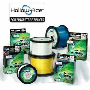 Power Pro Hollow Core Ace Braid Fishing Line Blue Hi Vis Yellow 500, 1500 yds