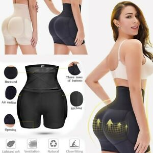 Damen Bodyshaper Miederhose Hohe Taille Bauchweg Push Up Hip Enhancer Shapewear