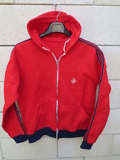 VINTAGE Veste à capuche rouge années 80 tractop jacket oldschool S M