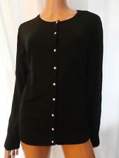 NWT PLUS SIZE 1X Amo Rosa BLACK PEARL BUTTON CARDIGAN SWEATER 1X NWT