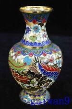 Collectable Chinese Style Cloisonne Carve Dragon Phoenix Souvenir Rare Vase