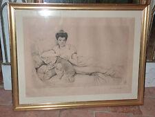 ARISTOCRATE RUSSE (?) PORTRAIT DE FEMME GRAVURE ESTAMPE  PAR JEAN CORABOEUF 1905