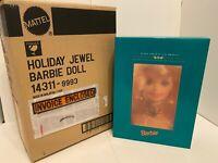 Holiday Jewel 1995 Barbie Doll Porcelain NIB/NRFB Shipper Box