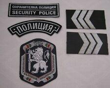 BULGARIA SECURITY POLICE PATCH EMBLEM EPAULETTE LOT