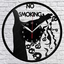 "No Smoking Vinyl Record Wall Clock Fan Art Home Decor 12"" 30cm 1251"