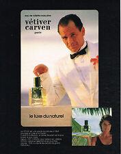 PUBLICITE ADVERTISING 035  1984  CARVEN  eau de toilette homme VETIVER