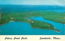 Sandwitch Massachusetts~Peters Pond Park Tent & Trailer Sites~1960s PC