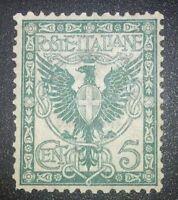 REGNO 1901 floreale 5 cent nuovo mnh