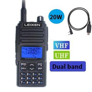 New Leixen UV-25D 20W Dual Band 2 Way Radio 400~480MHz /136~174MHz Walkie Talkie