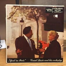 Count Basie April In Paris LP Verve VG+ Hits: Shiny Stockings/Sweety Cakes/Magic