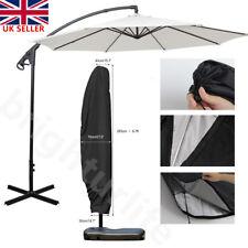 More details for 265cm cantilever parasol banana umbrella waterproof zip tie cover outdoor garden