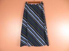 SK07521- TALBOTS Woman 100% Silk Full Skirt Multi-Color Stripes Sz 8P MINT