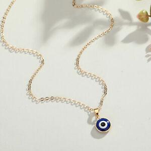 Nazar Boncuk Halskette Gold böses Auge Amulett Glücksbringer Türkisch Arabisch
