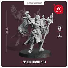 Sister Permutatia- Artel W- Sororitas Sisters Tzeentch Chaos Possessed Cultists