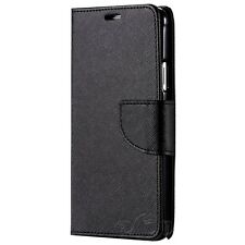 BlackBerry PRIV Luxury Leather Flip Wallet Case Cover w Credit Card Slots Canada